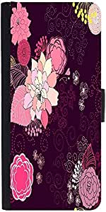 Snoogg Vector Flower Seamless Pattern Graphic Snap On Hard Back Leather + Pc ...