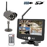 HaWoTEC HD Funk Überwachungssystem mit Aufzeichnungsfunktion auf SD Karte Starterset IP65