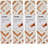 Amazon Brand - Solimo Incense Sticks, Sandal - 70 sticks/pack (Pack of 4)