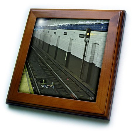 3dRose ft_10298_1 New York Subway New York City 74th Street and Roosevelt Station in Queens-Framed Fliese, 20,3 x 20,3 cm