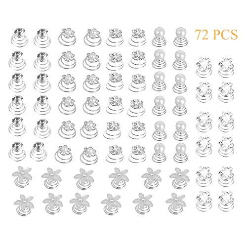 Globaldream 72 piezas 6 estilos de horquillas para el cabello en espiral,...