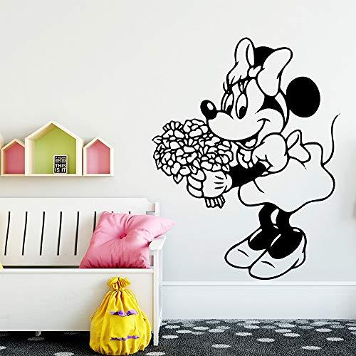 zxddzl Schönheit Maus Aufkleber Wasserdicht Vinyl Tapete Wohnkultur Für Baby Kinderzimmer Dekor Wandkunst Aufkleber-95x75 cm