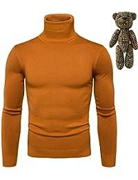 22c9e0cc35ed crazy player Herren Rollkragenpullover Basic Strickpullover Sweater Slim  Fit aus Feinstrick Baumwollmischung Lässig…