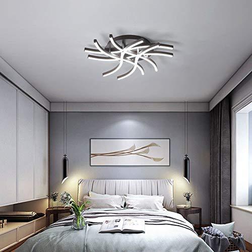 SXFYWYM Einfache Deckenleuchte LED Moderne Aluminium Kronleuchter Dimmbar mit Fernbedienung Schlafzimmer Licht,dimming,52x12cm -