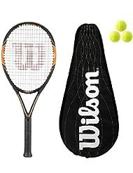 Tour Federer Wilson Carbono Raqueta De Tenis 105 + Funda + Esferas L4