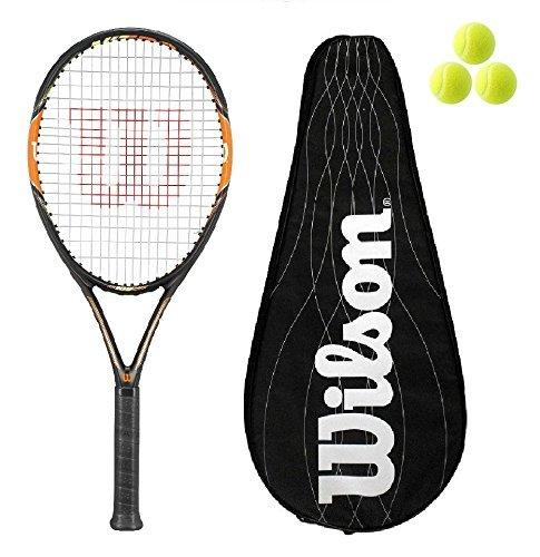 621f058f455 Wilson Nitro Lite 105 BLX Graphite Tennisschlager L3 with Full BLX Cover +  3 Balls