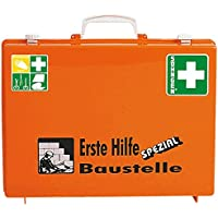 SÖHNGEN Erste-Hilfe-Koffer Baustelle, Wandhalterung, orange, ASR A4.3/Din 13157, mit PRÜFPLAKETTE preisvergleich bei billige-tabletten.eu