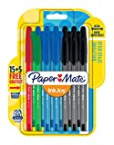 Paper Mate InkJoy 100 CAP Penna a sfera con cappuccio e punta media da 1,0 mm, colori standard assortiti, confezione da 15+5 (1956770)