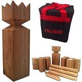 Viking Kubb Garden Game Hardwood in Canvas Bag As Seen on BBC