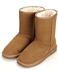 CRAVOG Frauen flache Lace Up Pelz gefütterte Winter Martin Stiefel Schnee Stiefeletten Schuhe