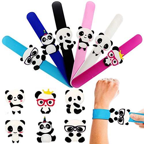 NIU MANG 6 Stück Panda Slap-Armband Silikon Armbänder für Kindergeburtstag Party Tüten Füller Schule Leckerbeutel Little Toys Favours