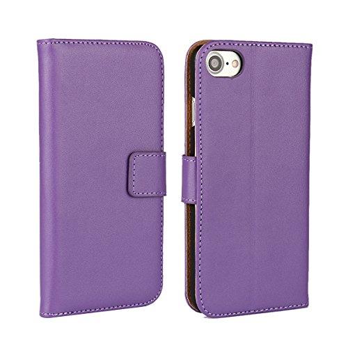 Meimeiwu Alta Qualità Slim Flip Cover Leather Wallet Cover Case Custodia Per iPhone 7 - Pink Porpora