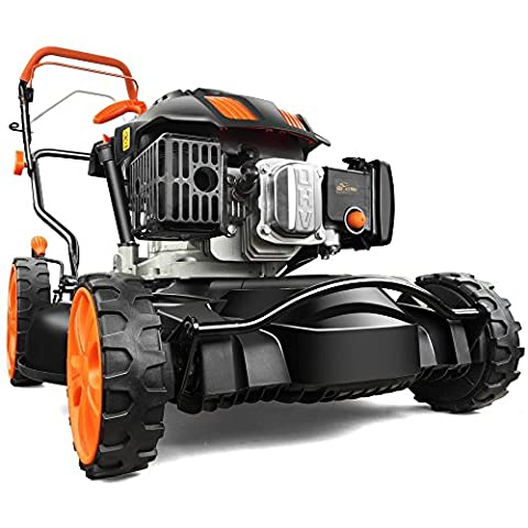 FUXTEC Benzin Rasenmäher FX-RM20SA60 Profi Mulchmäher mit 51 cm und Selbstantrieb leistungsstarker 200 cc Motor Motormäher