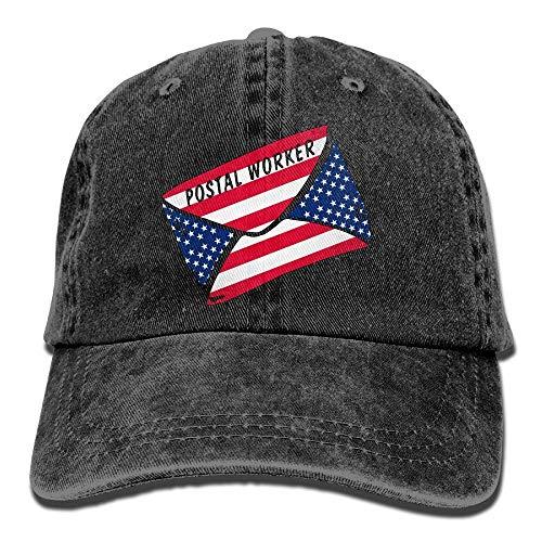 Post Worker Amerikanische Flagge Amerikanische Flagge Klassische Neutrale Baseballmütze Einstellbar Washed Dyed Cotton Ball Cap Black Orvis Bälle