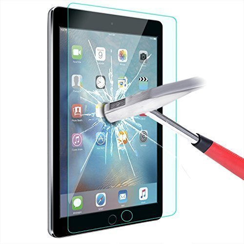 ELTD iPad Pro 9.7 / iPad Air 2 Displayschutz, Glas Folie Schutzfolie Glas Panzerfolie Displayschutzfolie für iPad Pro 9.7 / iPad Air 2 Klar Anti-Kratz Screen Protector Displayschutz - 9H Hardness aus (Ipad Air 2 Case Screen Protector)