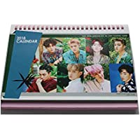Calendario de mesa 2018 del grupo de música coreano Exo Kpop, con fotos y pegatinas