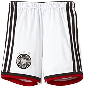 adidas Kinder kurze Hose DFB Home Shorts Youth, Wht/Black/Vicred/Mtsilv, 140, G76468
