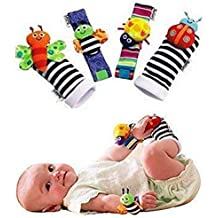 bestbeans Baby Calcetines y Pulseras Peluches Baby Rattle Juguetes de muñeca d881f250b29