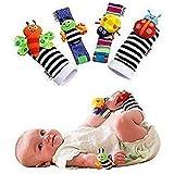 bestbeans Baby Socken und Armbänder Handgelenkspielzeug | Greiflinge Babyrasseln Babyspielzeug Plüschtiere