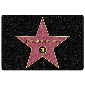 Personalisierte Fußmatte Walk of Fame mit Namen - Geschenke für Männer, Frauen und Paare mit Name personalisiert