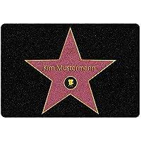 Fußmatte Walk of Fame mit Name und Hollywood Stern Bedruckt - Personalisierte Geschenke für Männer und Frauen