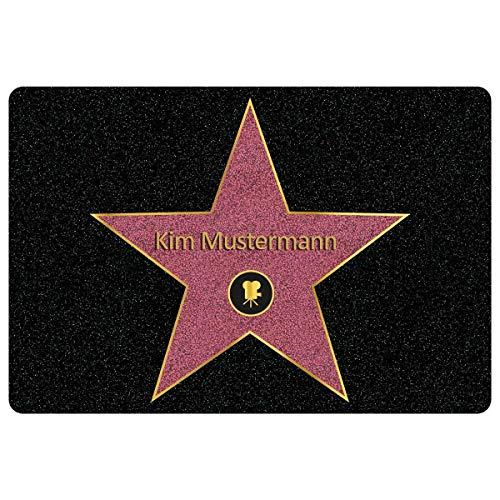 Personalisierte Fußmatte Walk of Fame mit Namen - Geschenke für Männer, Frauen und Paare mit Name und Stern