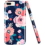 ZUSLAB Coque IPhone 8 Plus, iPhone 7 Plus, iPhone 6 Plus motif floral à fleurs,...
