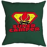 Toller Kissenbezug - Super Camper - für Könige des Campings und Profis in Sachen Urlaub in der Natur als Geschenk Idee