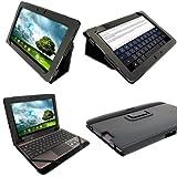"""igadgitz Negro 'Portfolio' Eco-Piel Case Cover para Asus Transformer Pad & Base Dock Teclado TF700 TF700T TF700KL Infinity 10.1"""" Android Tablet (No es adecuado para la TF701T)"""