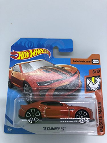 Hot Wheels 2018 '18 Camaro SS Rust Orange 8/10 Muscle Mania 50/365 (Short Card)