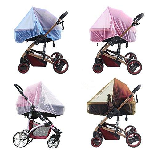 Mückennetz für Kinderwagen, Träger, Autositze, Kinderbett Baby Mückenabdeckung, robust, tragbar, Mückennetz, 1 Stück, zufällige Farbe