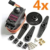 Shopystore 4Pcs Genuine Towerpro Mg946R Servo Digital Full Metal Gear Lenk 55G T
