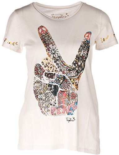 "T-Shirt ""Peace�?Offwhite Offwhite"