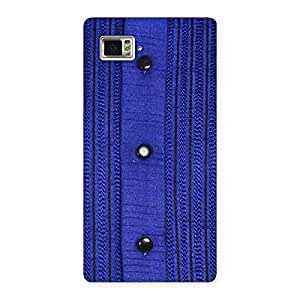 Delighted Royal Blue Sweat Print Back Case Cover for Vibe Z2 Pro K920