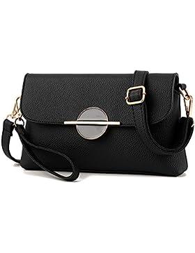 AILEESE Freizeit Mode Leder Frauen Kleine Schulranzen Schultertaschen Handtasche Messenger Umhängetasche