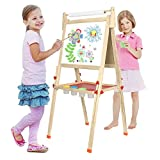 Best Toddler Easels - BATTOP Deluxe Wooden Art Easel Kids Double Sided Review