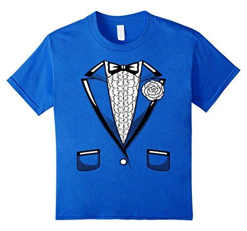 Tuxedo T-Shirt Retro Halloween Prom Black Bowtie Vintage