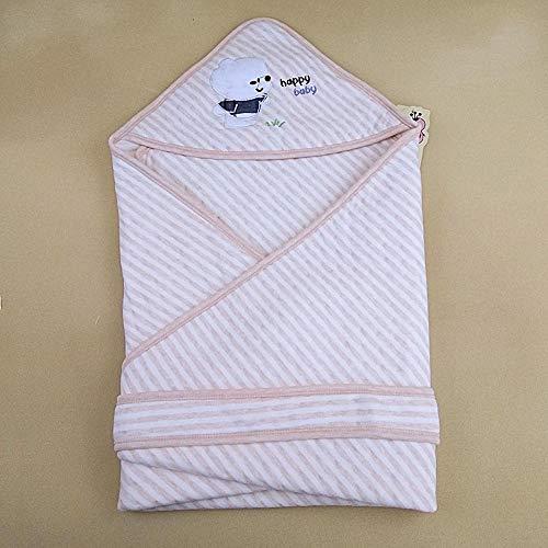 Lnyy Wickeltasche von Pure Cotton Neugeborene 0-8 Monate Farbe Baumwolle Stickerei halten Baby Hug war 80 * 80cm