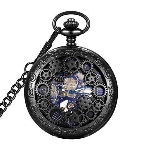 5 - Reloj de bolsillo Hombre KS Esqueleto Steampunk modelo KSPO32
