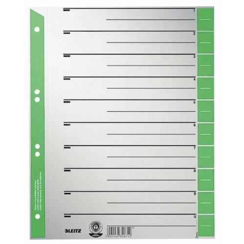 Preisvergleich Produktbild Leitz 1652-00-55 Trennblätter 230g/qm Inh.100, grün