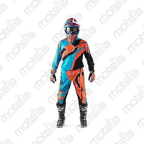 Pantaloni motocross Acerbis MX Profile arancio/blu