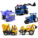 Centy Collection Of 5 Contruction Vehicles, Multicolor