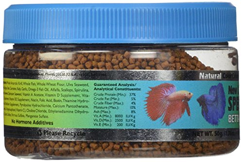New Life Spectrum Betta Formula 1mm Semi-Float Pet Food, 50gm 6