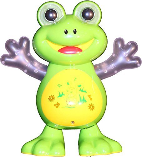 Pacific Toys Dancing Frog with Music Flashing Lights and Real Dancing Action