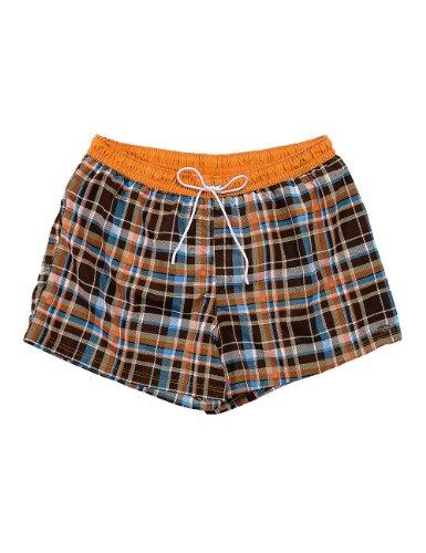 Fashy short bermuda pour homme Multicolore - Orange/braun/blau/weiß Kariert