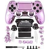 Repuesto para carcasa protectora de Playstation, repuesto PS4 del mando a distancia, viene con botón, producto para Playstation, de la marca Dualshock 4 rosa