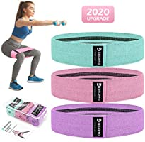 DISUPPO Resistance Bands 3 Sets, Non Slip Exercise Bands voor benen en kont, Workout Fitness Bands Wide Booty Bands voor...