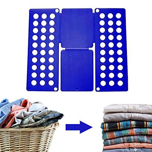 Kid Kleidung T Shirt Ordner, Professional Super schnell Organizer Wäschekorb faltbar Board, Flip Falten Rack für Kind, ideal für zuhause und unterwegs, Farbe blau (Kid) (Falten Einheitliche Ärmel Kurze)