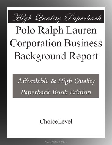 polo-ralph-lauren-corporation-business-background-report