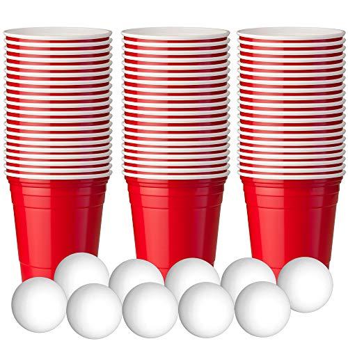 180 Vasos de Plástico Rojo para Fiestas